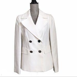 Banana Republic White 100% Cotton Boyfriend Jacket